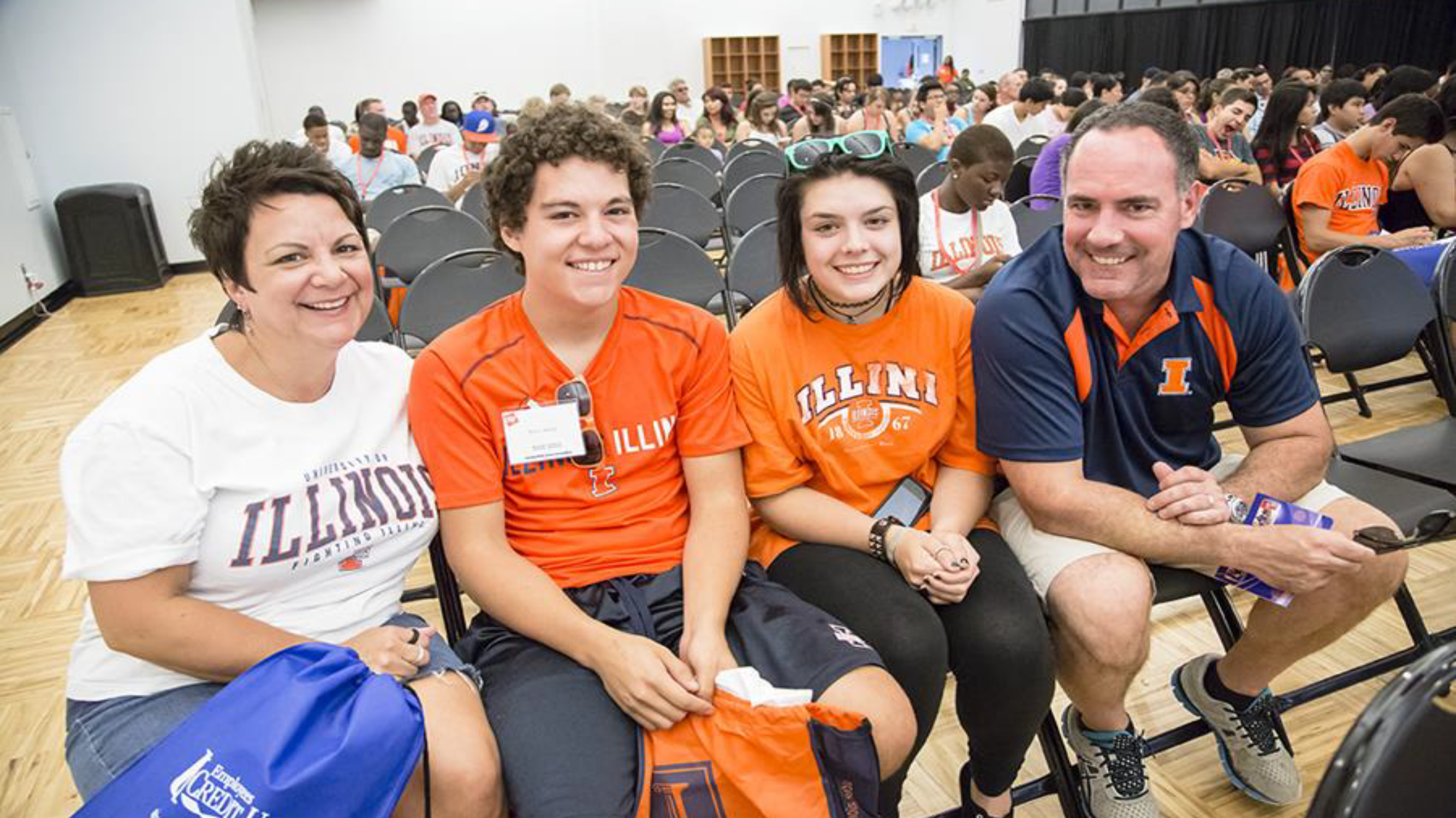 Family at New Student Programs Event