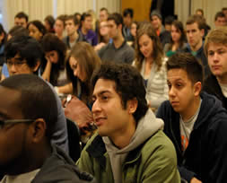 Students at the panel discussion