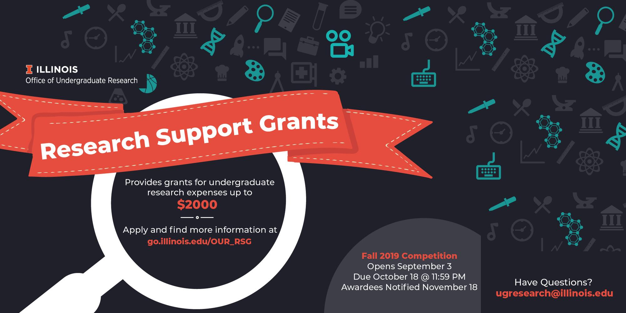 Research Support Grants Available for Undergraduates