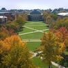 Picture looking down on the main quad with trees in fall colors